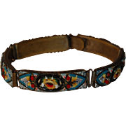 Very Old Italian Micro Mosaic Floral Bracelet