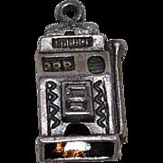 SALE Vintage Sterling Slot Machine Bracelet Charm