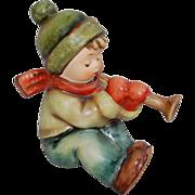 Goebel Hummel Figurine Sound The Trumpet Boy