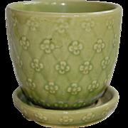Vintage Shawnee Flower Pot Planter Spring Green