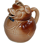 Portly Pig Butler Pitcher Creamer Japan