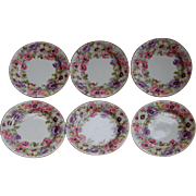 6 J Pouyat Limoges ANEMONE Side Plates