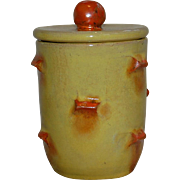 Signed Mid Century Modern German Pottery Condiment Lidded Jar