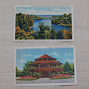 2 Vintage 1935 Rochester NY Postcards Curt Teich