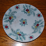 """SALE Staffordshire England 10"""" 'Feathers' Pearlware Plate 1840"""