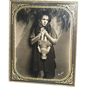 SOLD 1920s Freulich ~ Gladys Walton w/ Doll ~ Framed 8x10 Photo
