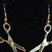 SALE 1970/80s Goldtone Scissor Earrings