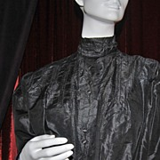 SALE Victorian Black Silk Ladies' Blouse ~ Best for Study