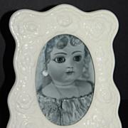 SALE 1989 Terragrafics ~ White Ceramic Rose Photo Frame