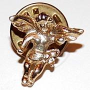 SALE Vintage Goldtone Cherub Putti Tie Tac Pin  ~ Made in USA