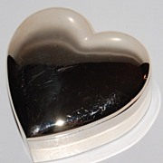 SALE 1970/80s Silverplated Heart Trinket Box