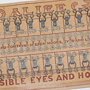 """SALE Victorian """"Invisible Eyes and Hooks"""" on Original ALICE Card"""