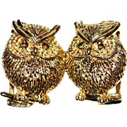 SALE 1960/70s Textured Owl Belt Buckle
