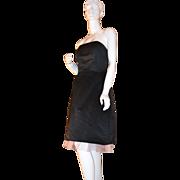 SALE Jessica McClintock Gunne Sax ~ Black Dress w/ Pink Tulle