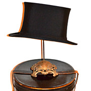 SOLD 1900s John Cavanagh ~ Black Silk Top Hat w/ Original Box