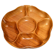 SALE Monkeypod Wood Lazy Susan/Rotating Tray