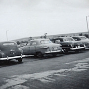 SALE 1953 Car Parking Lot at Pentagon B/W Photo