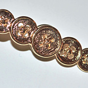SALE Vintage Row of Buttons Tie Tack Pin