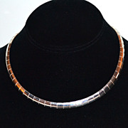 SALE 32G Italian Sterling Wide Omega Necklace