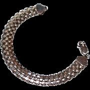 SALE Sterling Silver Weave Link Bracelet