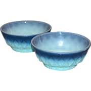 SALE Anchor Hocking Fire King ~ Set of 2 Kimberly Pattern Bowls