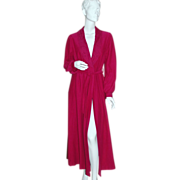SALE Shadowline ~ Long Fuchsia Purple Belted Robe