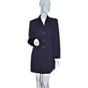 SALE Joseph Ribkoff ~ ILGWU Long Jet Black Jacket/Dress