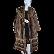 SALE 1960s Donald Brooks Boutique ~ Long Mink Fur Coat