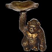 SALE Heavy Solid Brass Gorilla Monkey Trinket Dish