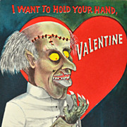 "SALE Hallmark ~ ""I Want To Hold Your Hand, Valentine"" Gothic Valentine's Day Card"