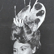 SALE 1960s Surreal Hand In Hair Art Palette ~ Orig 8 x 10 Beauty Contestant Photograph