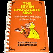 SALE 1993 The Seven Chocolate Sins Spiral Bound Cookbook
