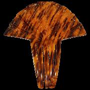 SALE Huge Art Deco Faux Tortoise Shell Celluloid Hair Comb