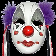SALE 1989 UCGC Hand-painted Porcelain Clown Face Mask