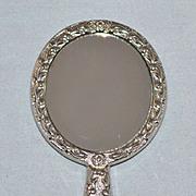 "SALE Vintage Silvertone 3"" Doll Hand Mirror"
