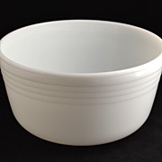 SOLD Pyrex ~ Ribbed Milk Glass Mixing Bowl