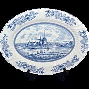 SALE PENDING Johnson Bros ~ Tulip Time ~ Blue & White Oval Platter