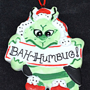 SALE Chris Graham Mecham ~ Bah-Humbug Grinch Ornament