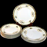 SALE Noritake Romance ~ 10 Pc Salad & Bread and Butter Plate China Set