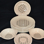 SALE 1950s Vernonware ~ Heyday ~ 14-Pc Dinnerware Set