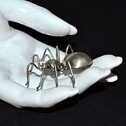 SALE Sterling Silver Spider Brooch/Pin