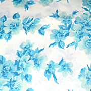 SALE Perma-Prest ~ Blue Flower Twin Flat Sheet