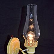 SALE 1970s Mustard Yellow Hurricane Wall Arm Lamp
