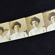 SALE Pretty Edwardian Woman Authentic Photo Strip