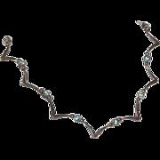 SALE Sterling & Blue Topaz Spiderweb Necklace