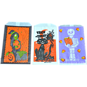 SALE Set of 3 Halloween Candy Trick or Treat Paper Bags