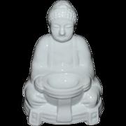 SALE Japanese Buddha Blanc de Chine Style Porcelain Incense Burner