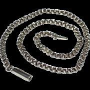 SALE Fine Victorian Antique Sterling Silver Rolo or Belcher Necklace