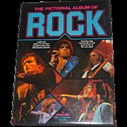 SALE 1981 The Pictorial Album of Rock Hardcover Book by Robert Ellis