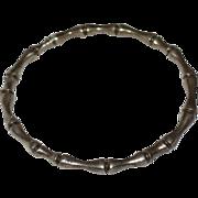 SALE 26G Sterling Silver Bone or Bamboo Design Bangle Bracelet
